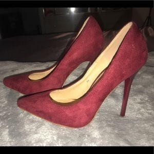 Wine Colored Stilleto Heel